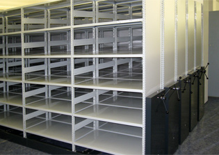 Sliding racks and archive storage